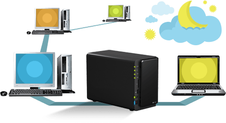 Network storage and local servers